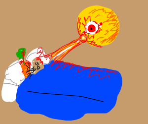 yellow orb murders carrot and potato in bed