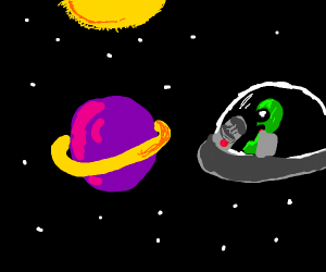 Alien discovers a planet