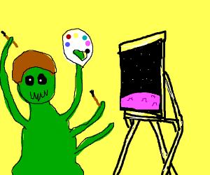 Bob Ross alien