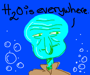 H20 is every where squidward says