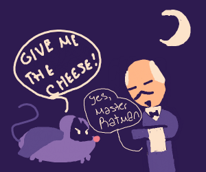Ratman demands cheese from Alfred