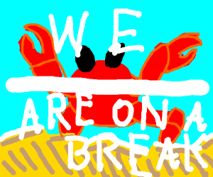 We are on a break