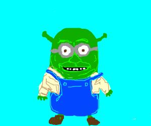 Shrek as a minion