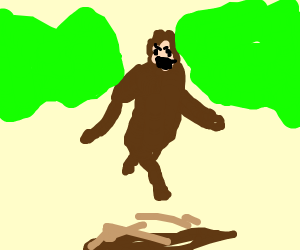 Suddenly, a Sasquatch!