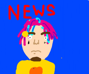 Lil' Pump announcing the news channel