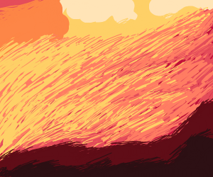 Sunset in hell