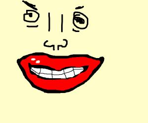 Creepy lips