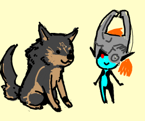 Wolf Link and Midna (LoZ TP)