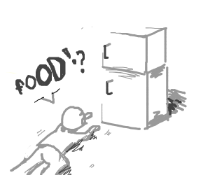 crawling to the fridge