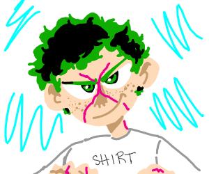 My hero academia green haired dude