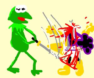 Kermit-san kills Mineta