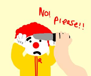 Someone kills Ronald McDonald