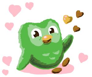 Wholesome Duolingo owl
