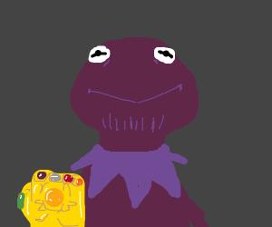Kermit Thanos (Kernos) w/ infinity gauntlet
