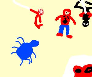 Blue spider into the spideyverse