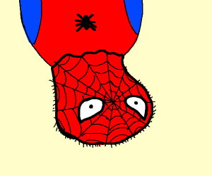 A retarded Spiderman upside down