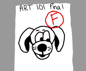 Failing in art class
