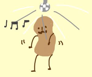 Peanut at the disco