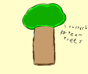 Tree supports #teamtrees