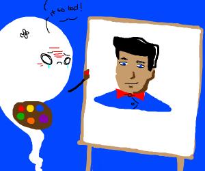 Talented ghost thinks his art sucks