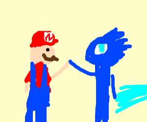 Mario and Sonic hive 5ing