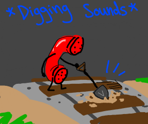A Telephone digging into the Tracks