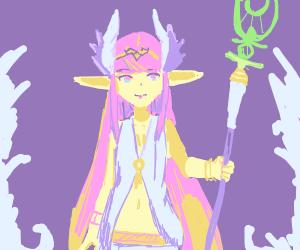Gorgeous elf priestess