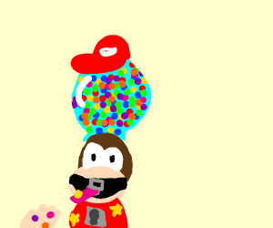 Diddy Kong gumball machine