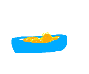 Gold nuggets in a blue bowl