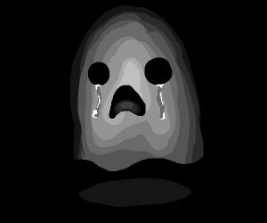 sad grey ghost