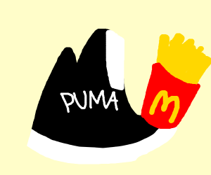 Puma holding Fries