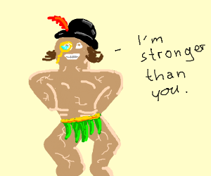 weird guy says he's stronger than you