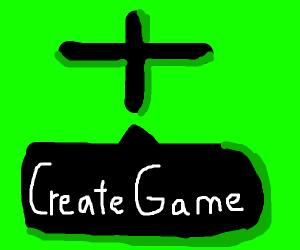 "The ""Create Game"" screen"