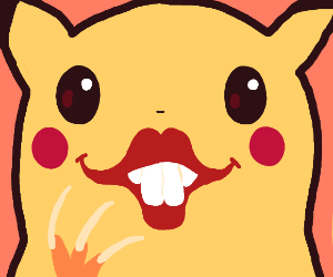 Pikachu with human lips