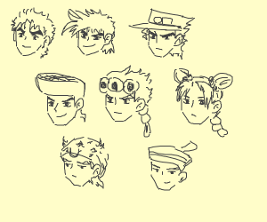 all the jojos in one picture (jjba)