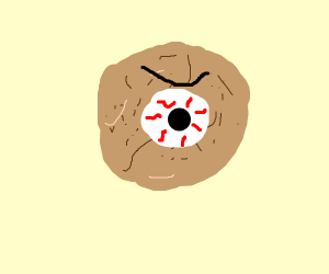 Giant eyed snickerdoodle cookie