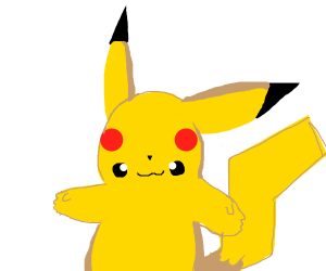 pikachu with swapped eyes and cheeks