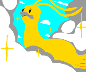Majestic bird in his domain, the clouds
