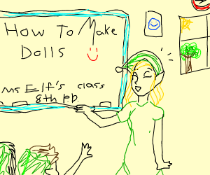 Elf giving a Presentation
