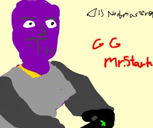 Gamer Thanos playing Xbox