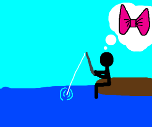 Stickman fishing for bows