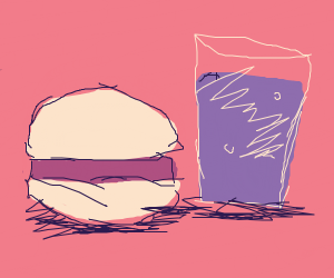 burger and grapejuice