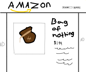 Buy a bag of nothing at Amazon!