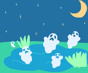 This pond is haunted