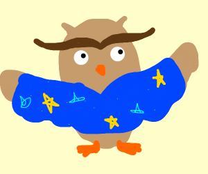 owl in wizard pajamas