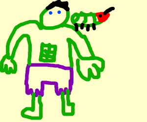 hulk has pet caterpillar
