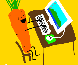 Carrot using a computer