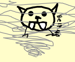 Saber-toothed Cat in a Tornado