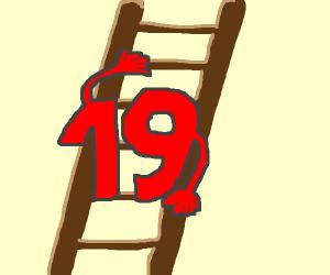 19 climbing a lader
