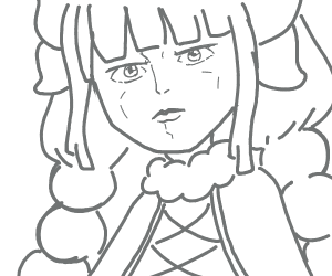 kanna with a jojo face